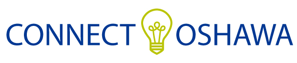 Connect Oshawa in blue with green lightbulb centred between the two words